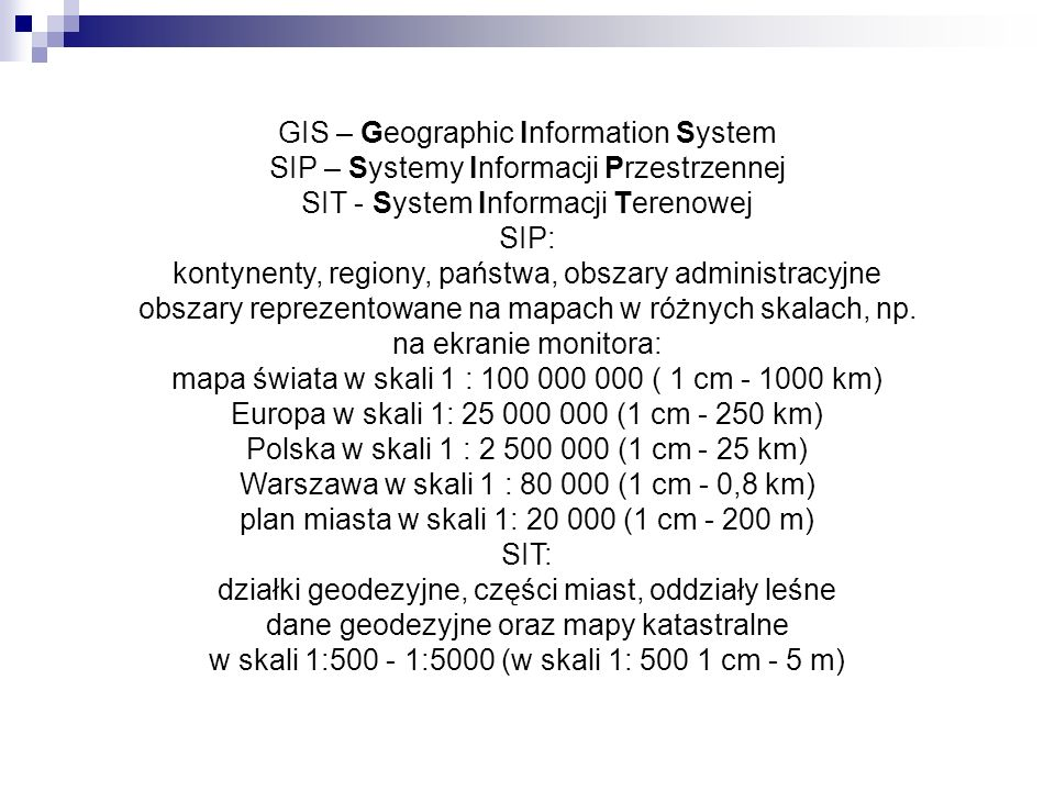 GIS – Geographic Information System