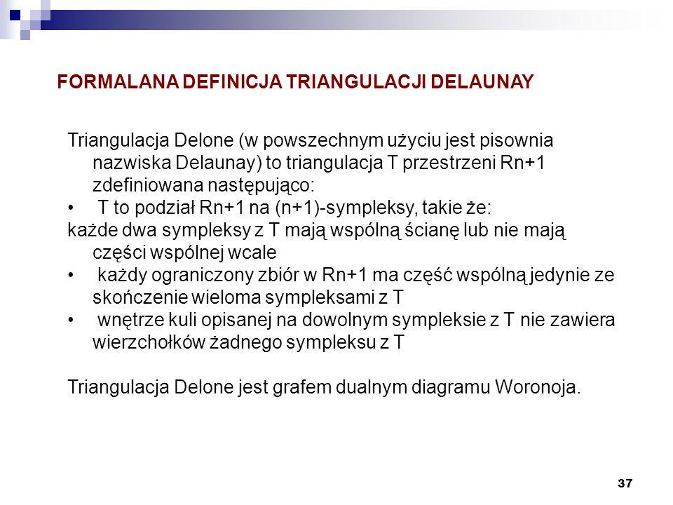 FORMALANA DEFINICJA TRIANGULACJI DELAUNAY