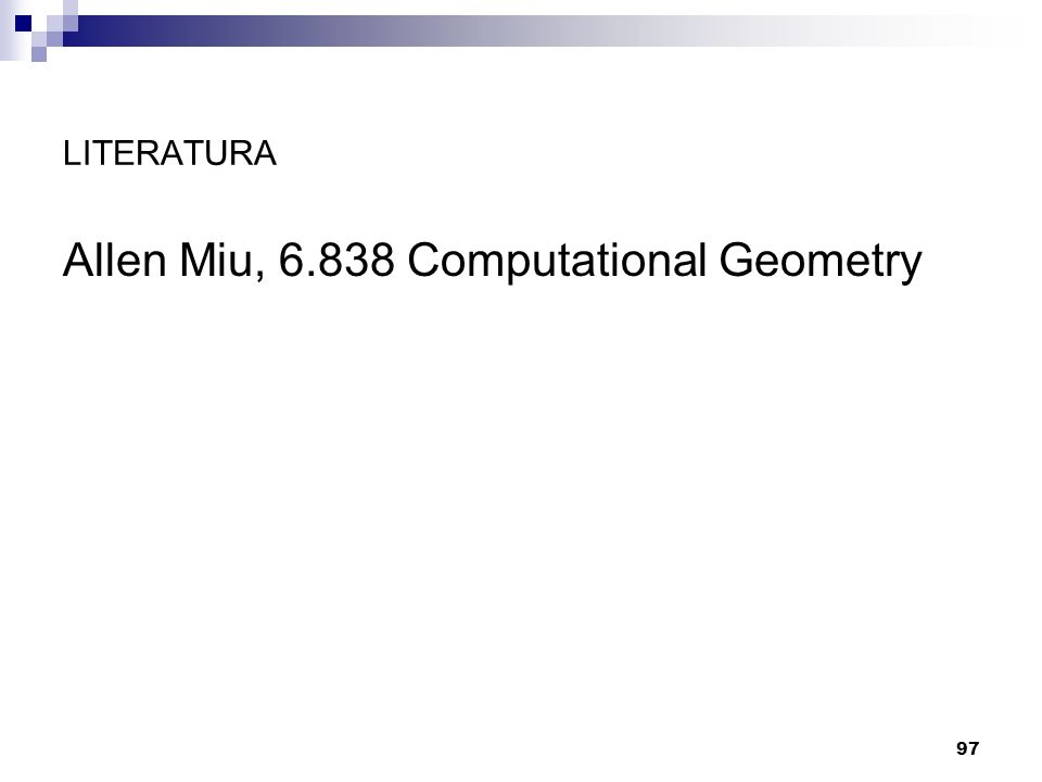 Allen Miu, 6.838 Computational Geometry
