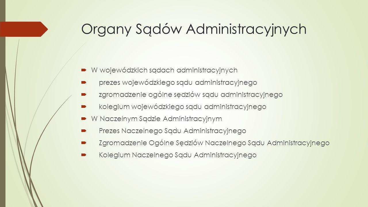 Organy Sądów Administracyjnych
