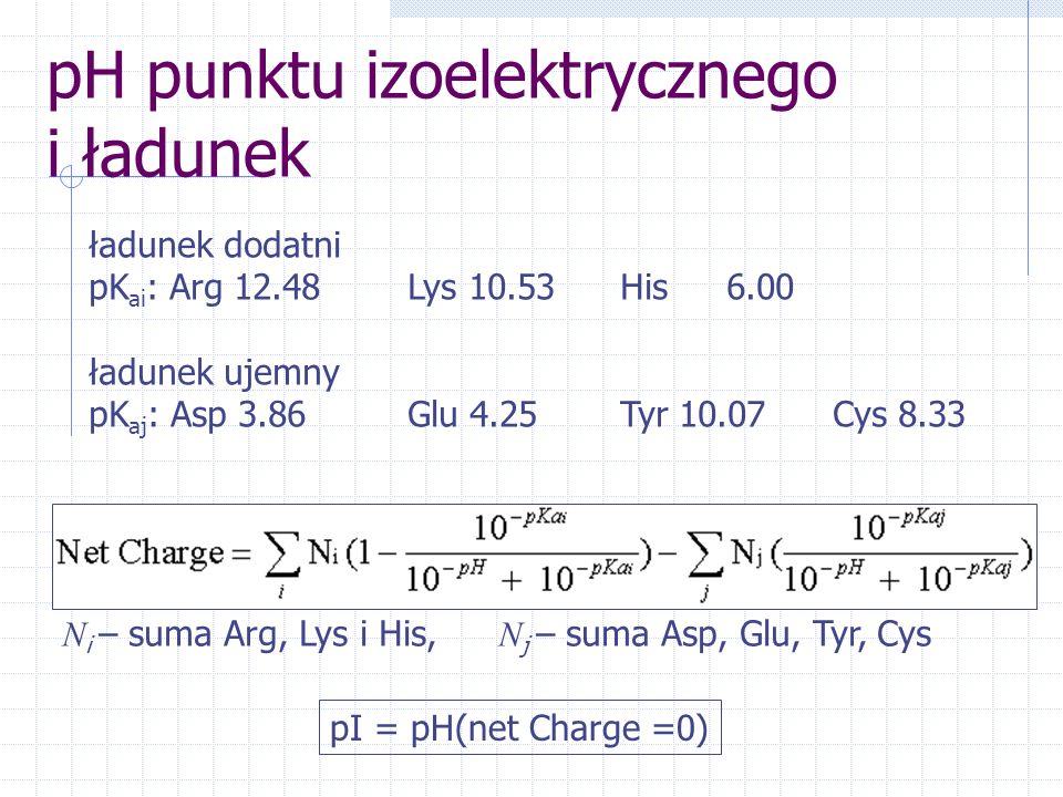 pH punktu izoelektrycznego i ładunek