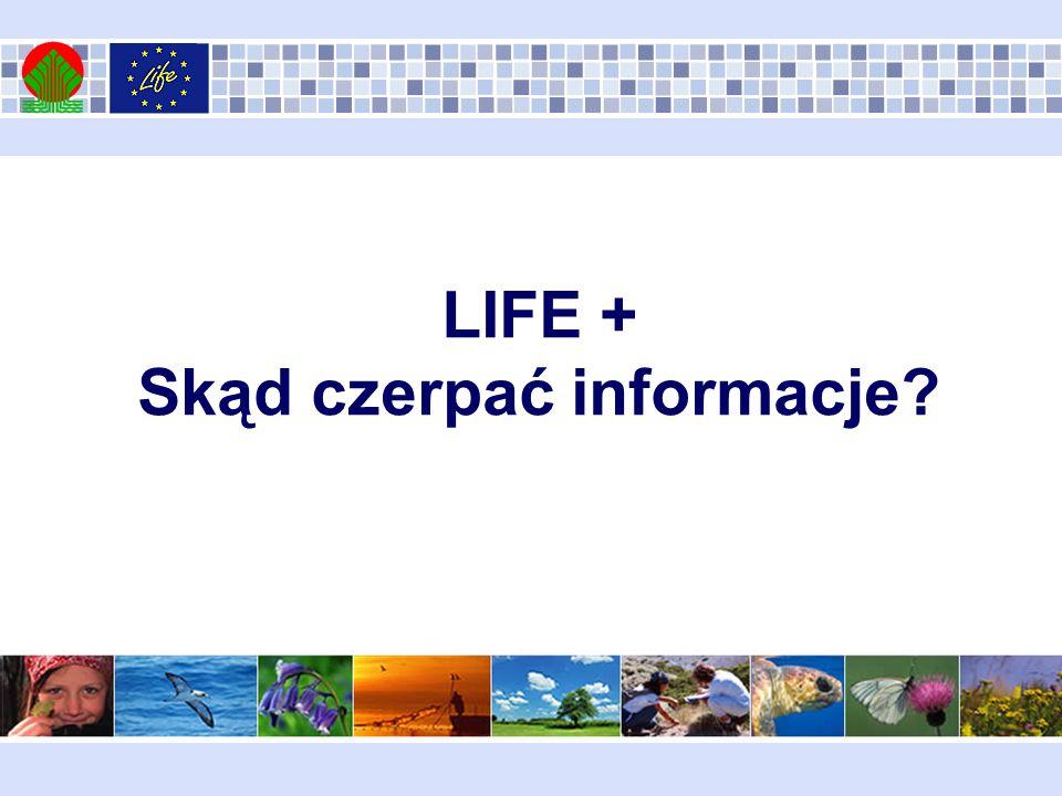 LIFE + Skąd czerpać informacje