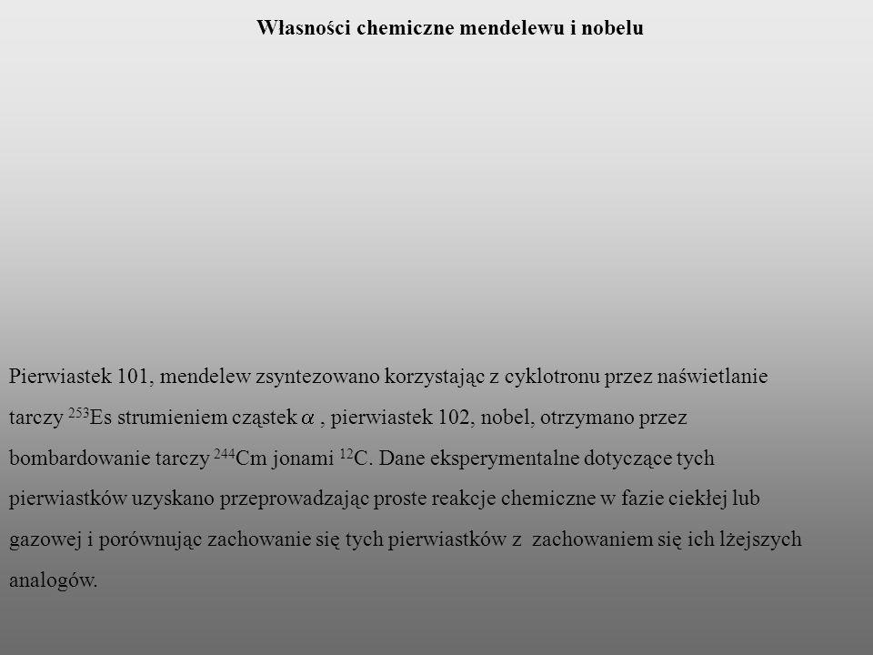 Własności chemiczne mendelewu i nobelu