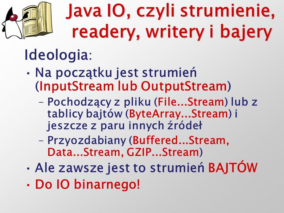 Java IO, czyli strumienie, readery, writery i bajery