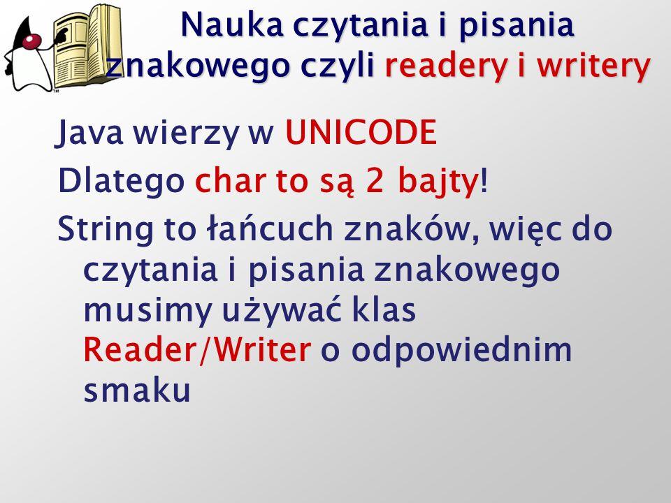 Nauka czytania i pisania znakowego czyli readery i writery
