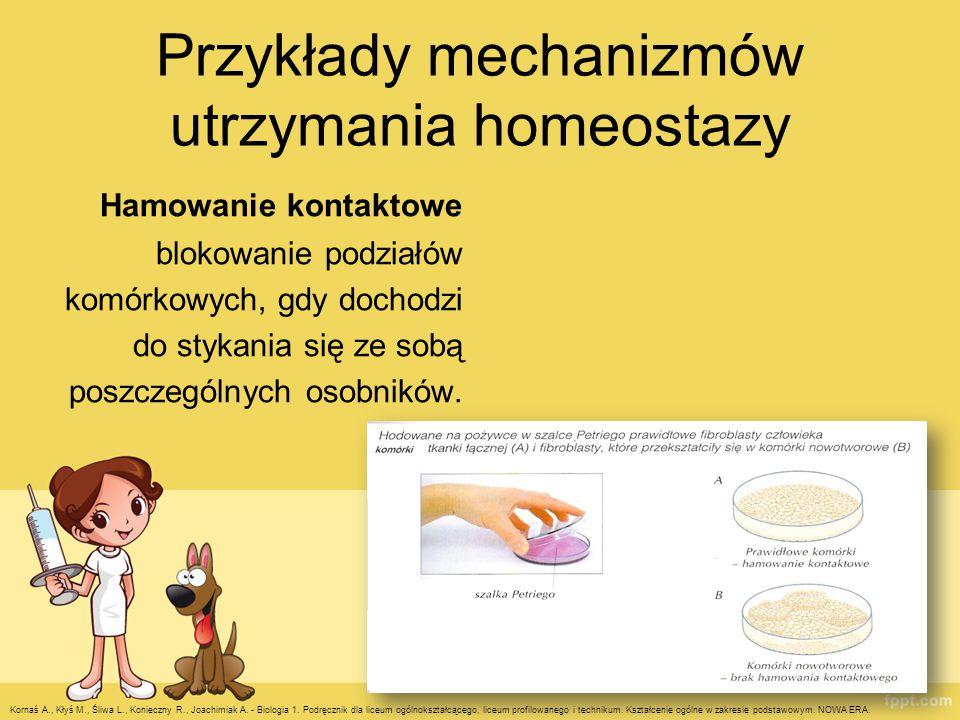 Przykłady mechanizmów utrzymania homeostazy