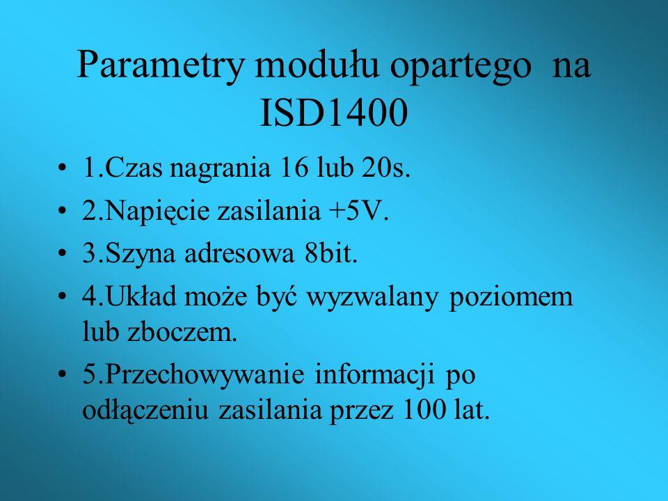 Parametry modułu opartego na ISD1400