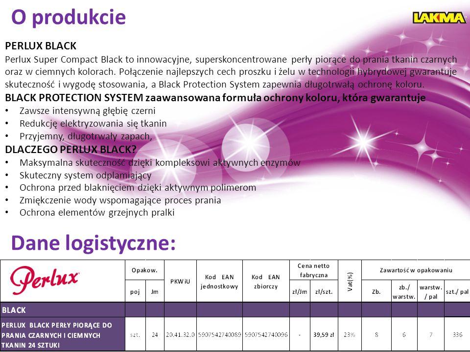 O produkcie Dane logistyczne: PERLUX BLACK