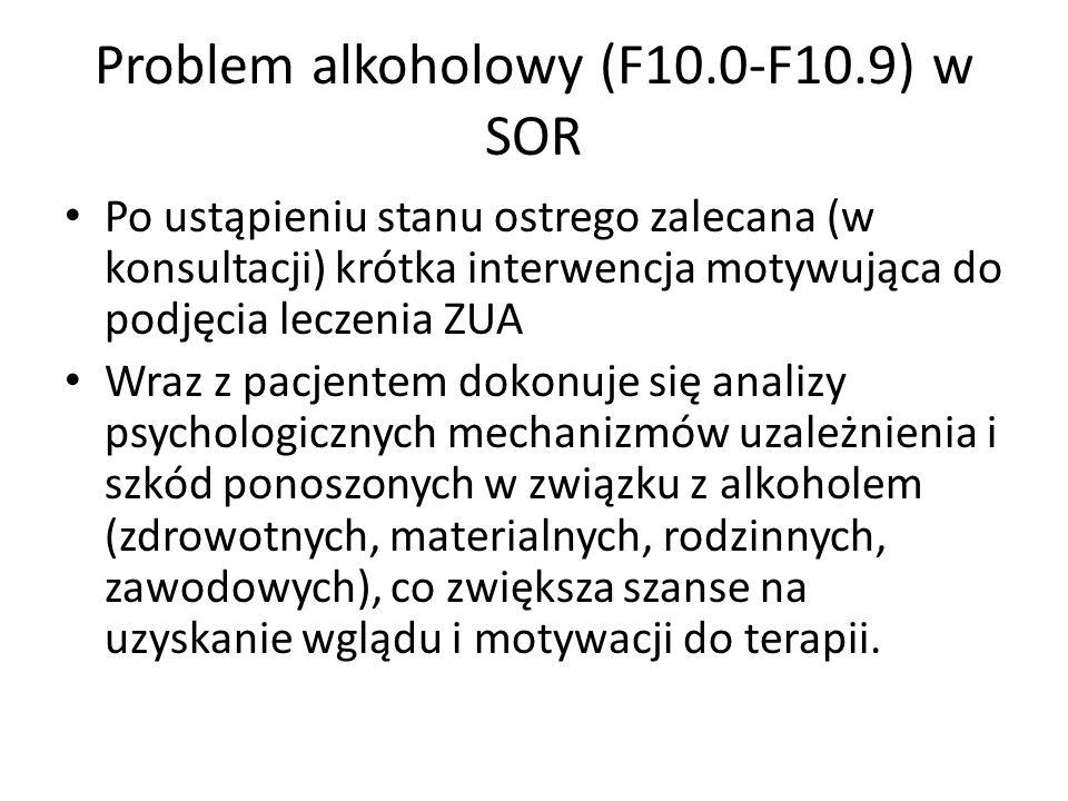 Problem alkoholowy (F10.0-F10.9) w SOR