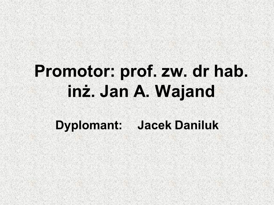 Promotor: prof. zw. dr hab. inż. Jan A. Wajand