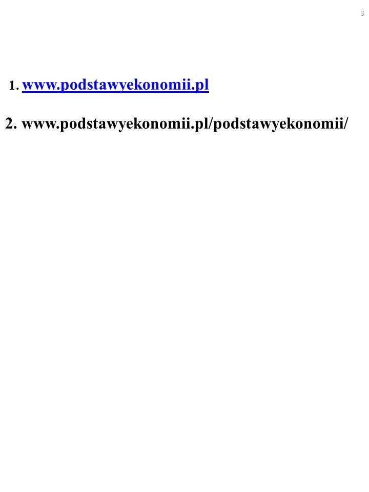 1. www. podstawyekonomii. pl 2. www. podstawyekonomii
