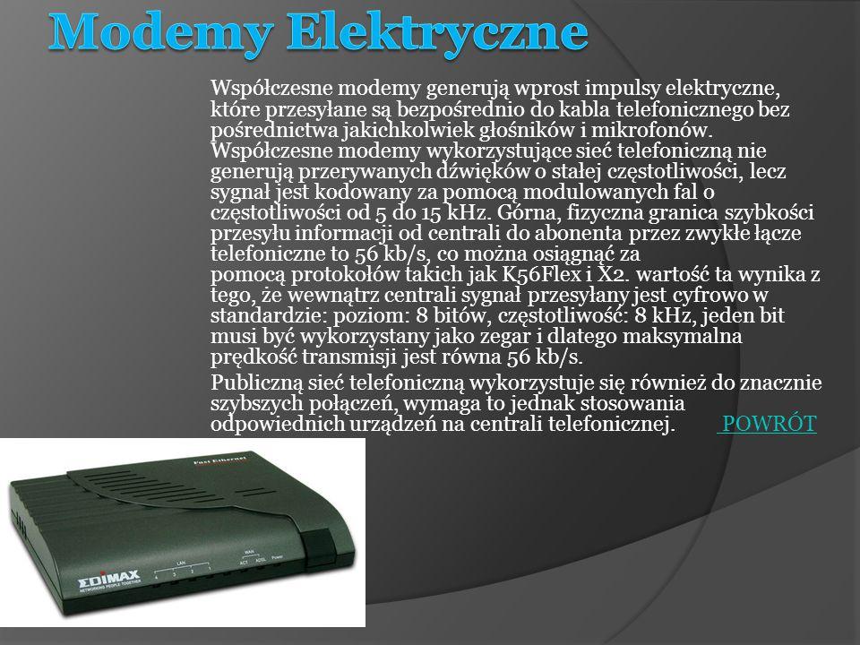 Modemy Elektryczne