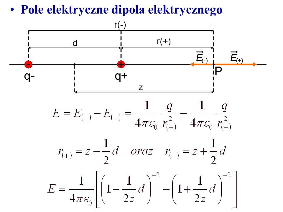Pole elektryczne dipola elektrycznego