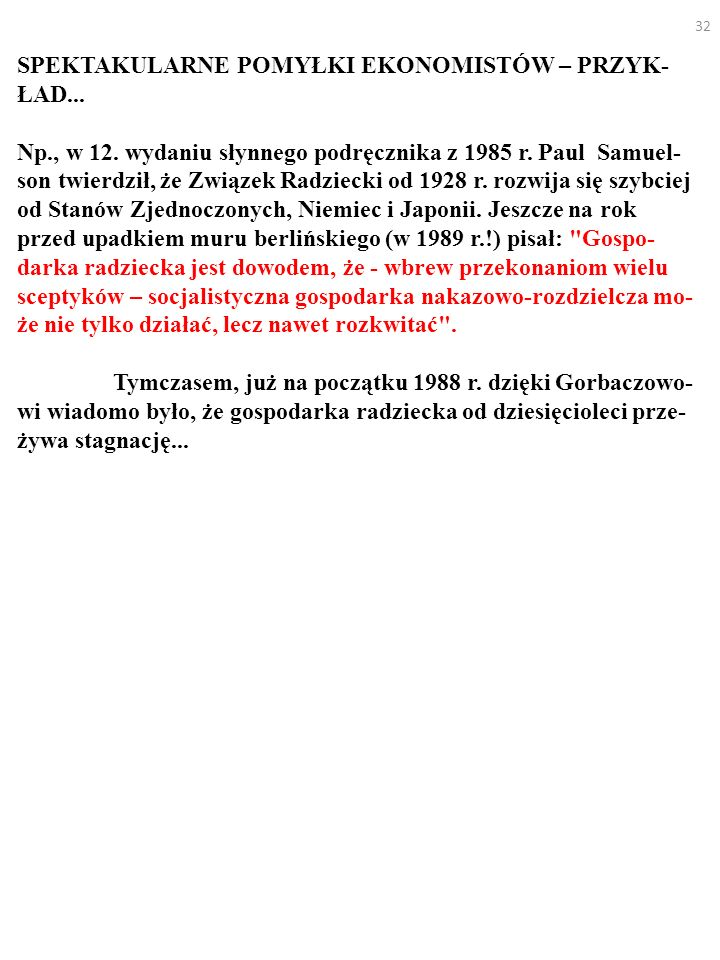 SPEKTAKULARNE POMYŁKI EKONOMISTÓW – PRZYK-ŁAD...