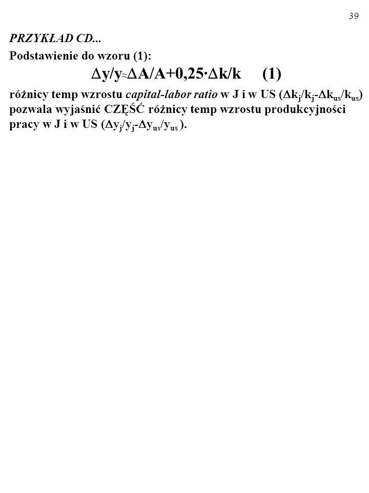 y/y≈A/A+0,25·k/k (1) PRZYKŁAD CD... Podstawienie do wzoru (1):