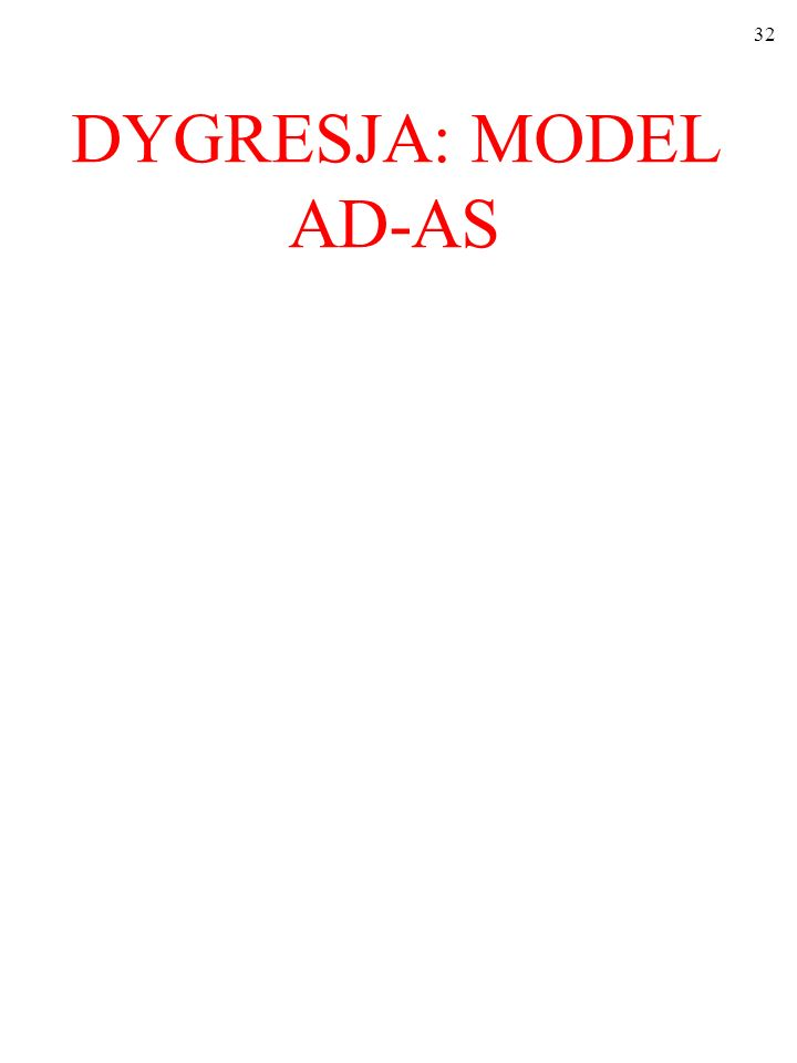 DYGRESJA: MODEL AD-AS