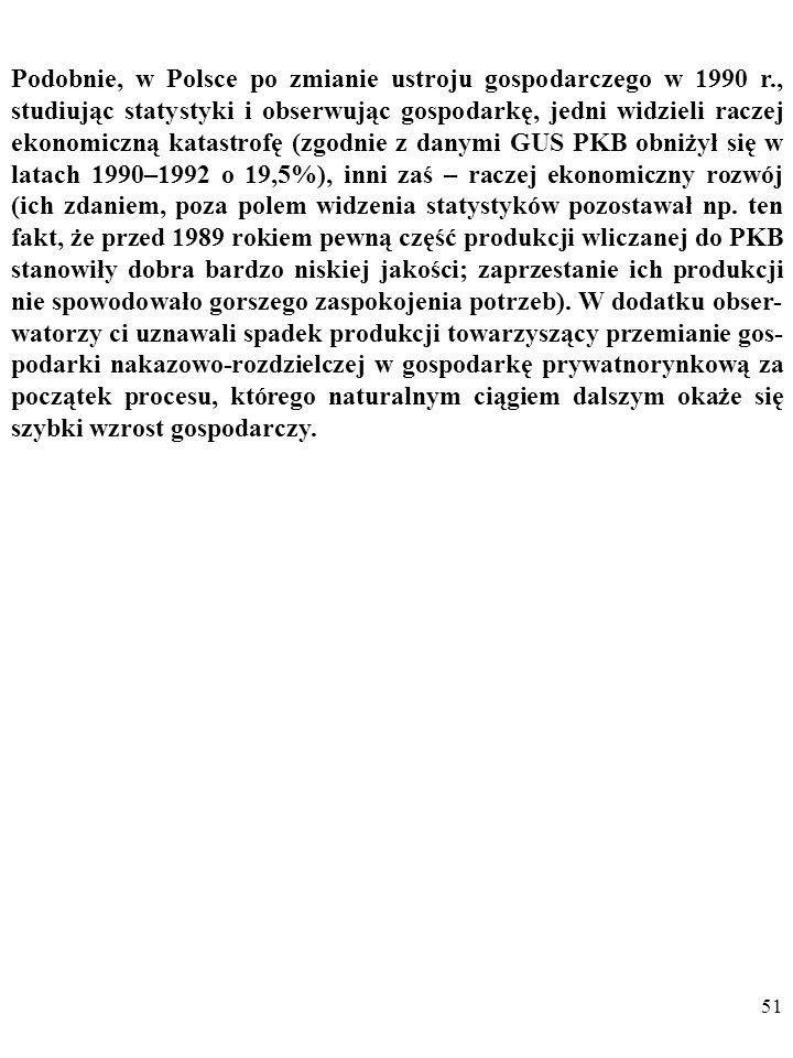 Podobnie, w Polsce po zmianie ustroju gospodarczego w 1990 r