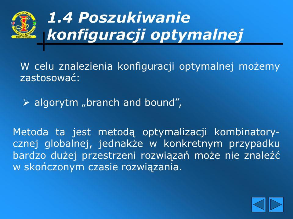 1.4 Poszukiwanie konfiguracji optymalnej