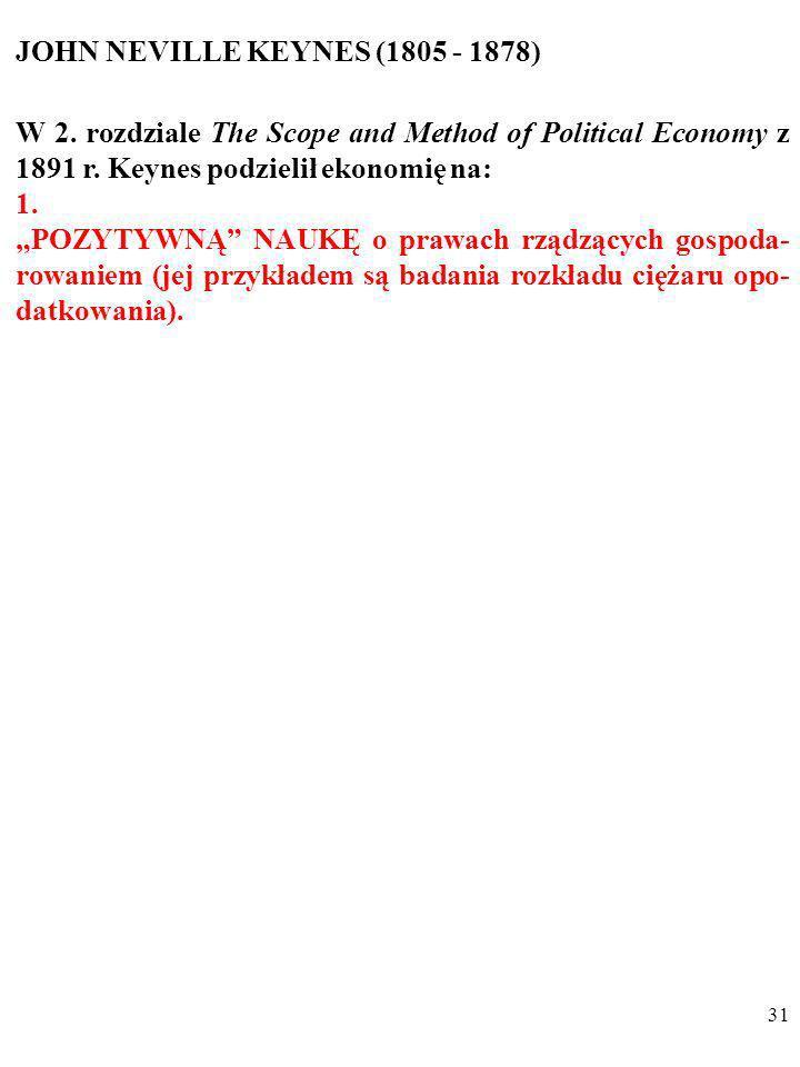 JOHN NEVILLE KEYNES (1805 - 1878)