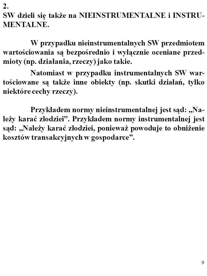 2. SW dzieli się także na NIEINSTRUMENTALNE i INSTRU-MENTALNE.