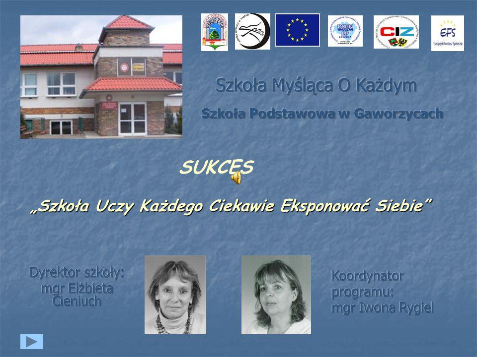 Dyrektor szkoły: mgr Elżbieta Cieniuch