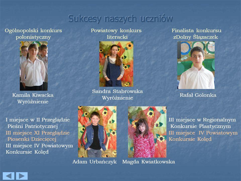 Sukcesy naszych uczniów