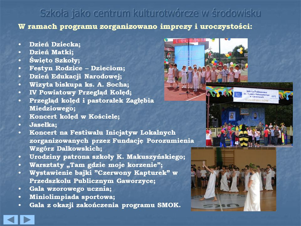 Szkoła jako centrum kulturotwórcze w środowisku