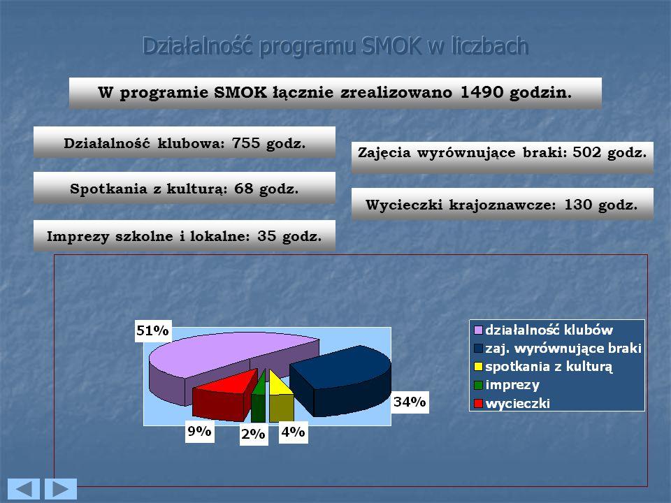 Działalność programu SMOK w liczbach