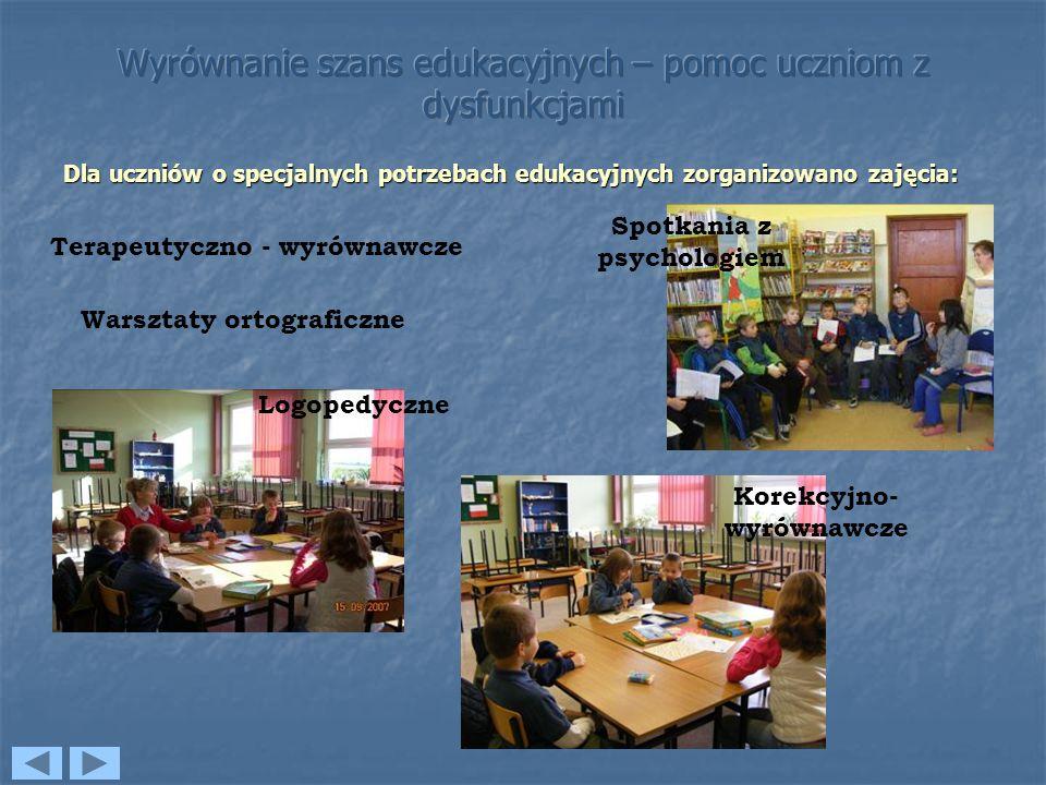 Wyrównanie szans edukacyjnych – pomoc uczniom z dysfunkcjami