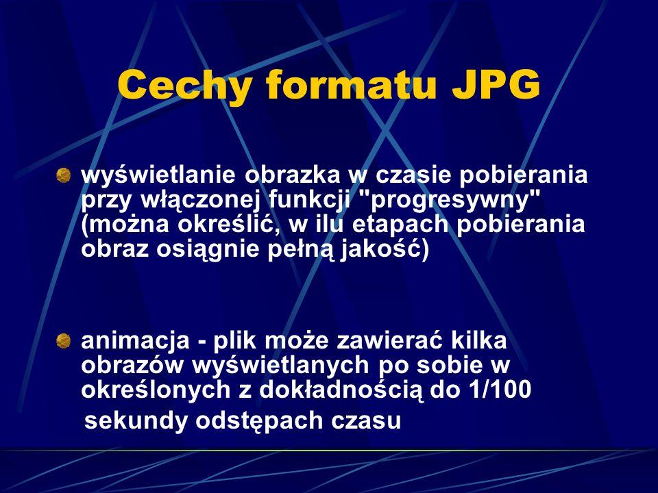 Cechy formatu JPG
