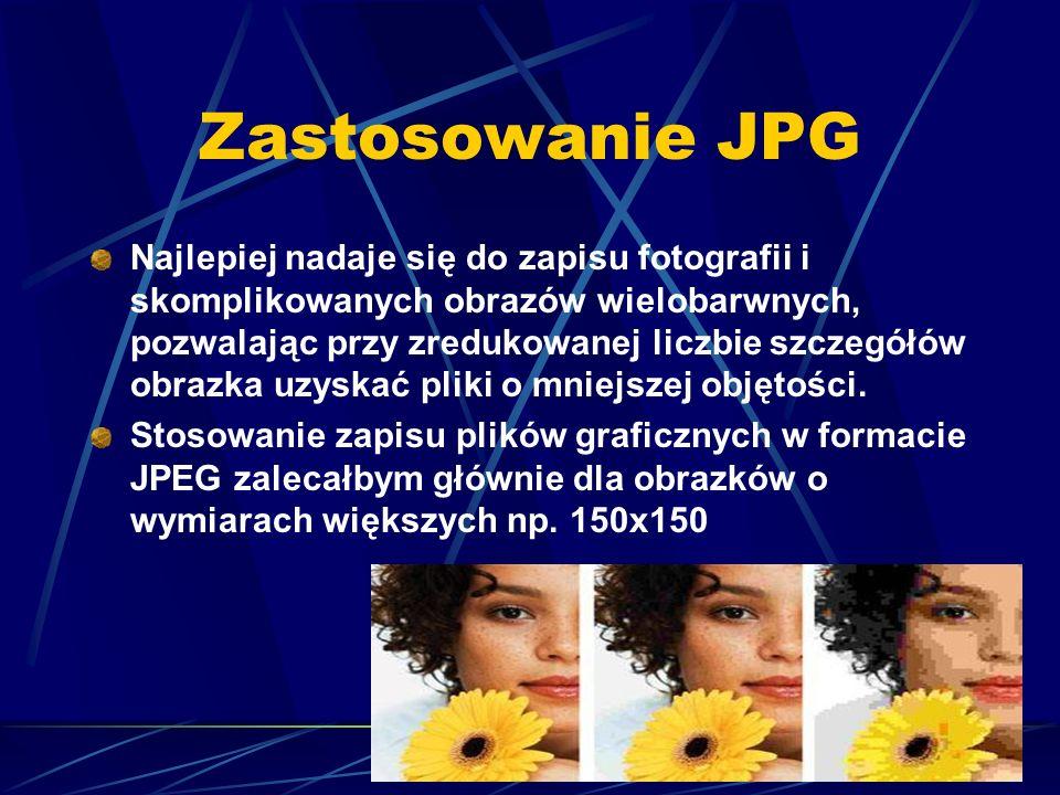 Zastosowanie JPG