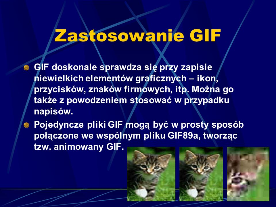 Zastosowanie GIF