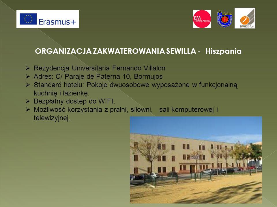 ORGANIZACJA ZAKWATEROWANIA SEWILLA - Hiszpania