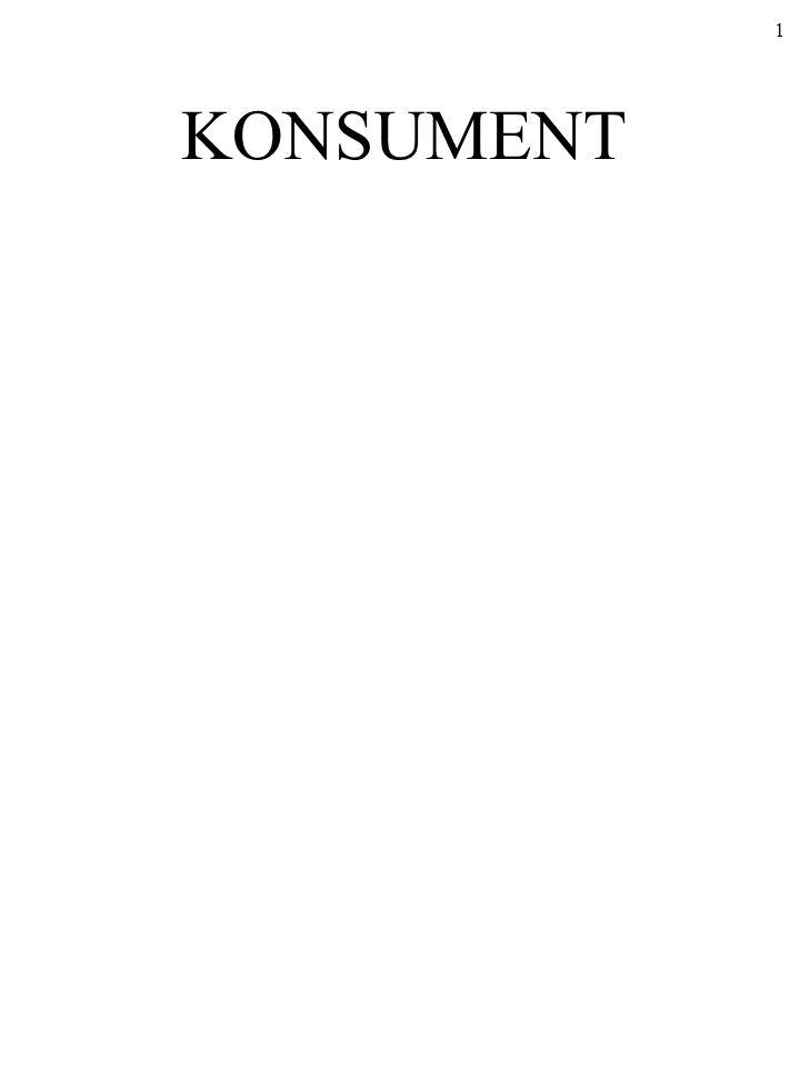 KONSUMENT