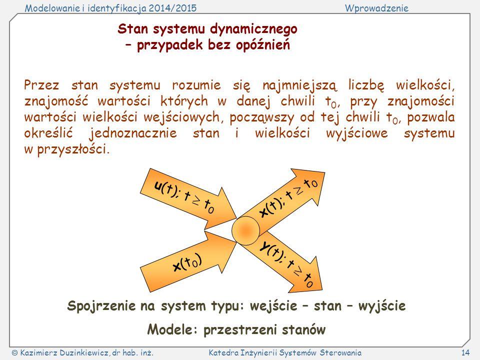 Stan systemu dynamicznego – przypadek bez opóźnień