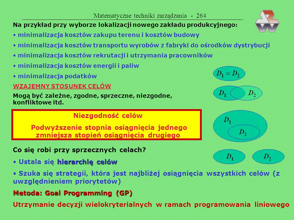 Matematyczne techniki zarządzania - 264