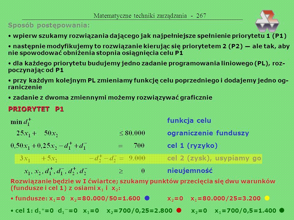 Matematyczne techniki zarządzania - 267