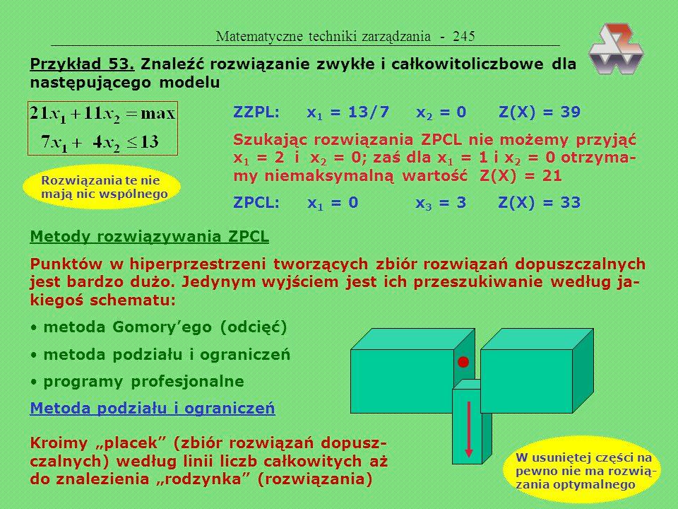 Matematyczne techniki zarządzania - 245