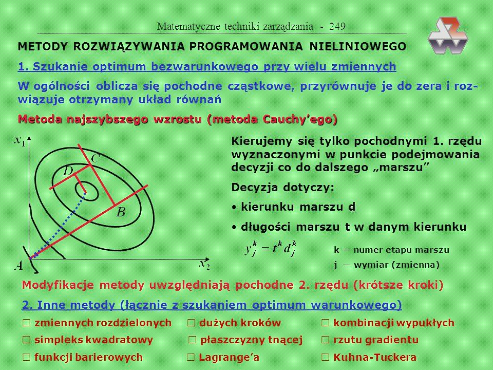 Matematyczne techniki zarządzania - 249