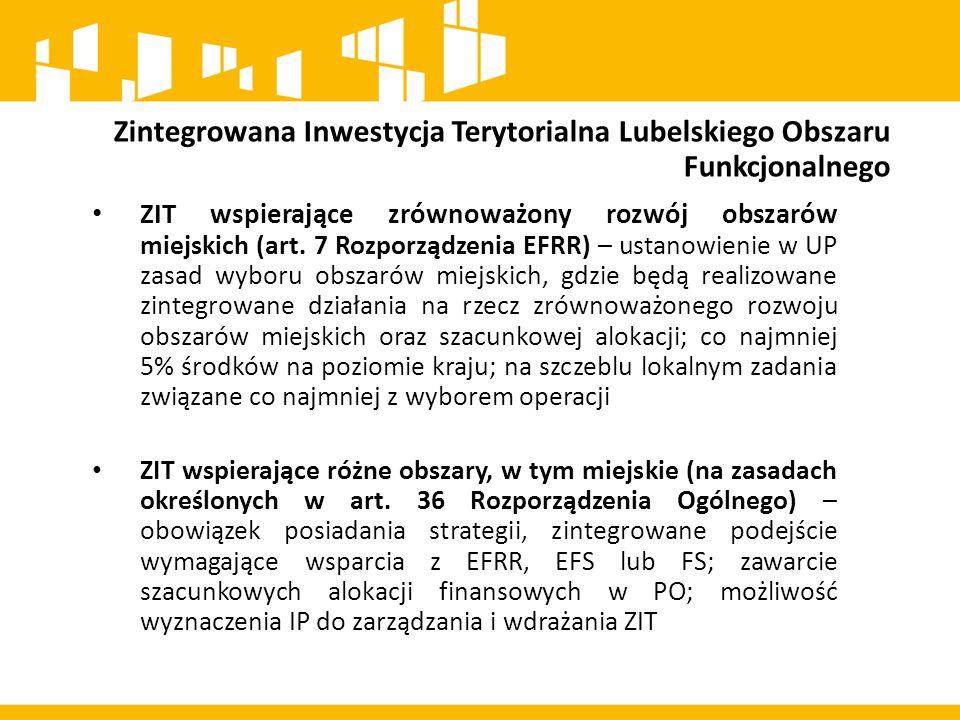 Zintegrowana Inwestycja Terytorialna Lubelskiego Obszaru Funkcjonalnego