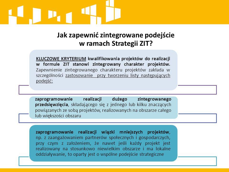 Jak zapewnić zintegrowane podejście w ramach Strategii ZIT