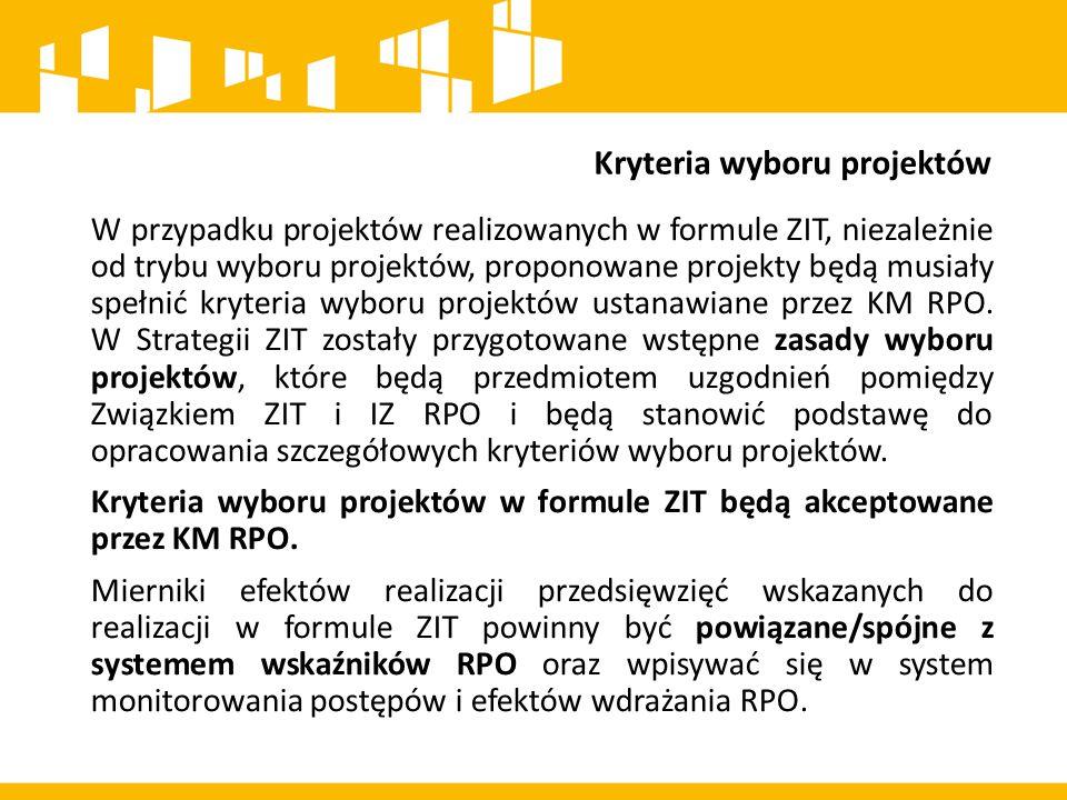 Kryteria wyboru projektów