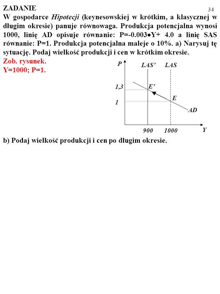 b) Podaj wielkość produkcji i cen po długim okresie.