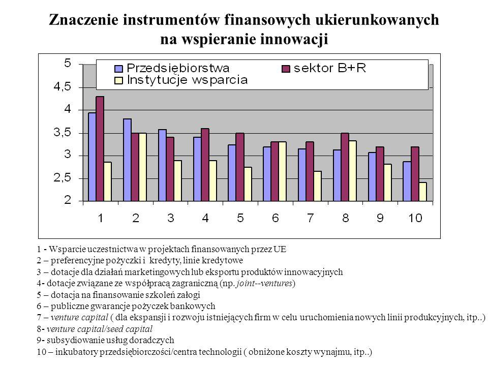 Znaczenie instrumentów finansowych ukierunkowanych na wspieranie innowacji