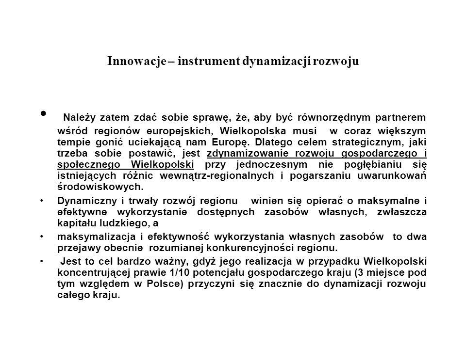 Innowacje – instrument dynamizacji rozwoju