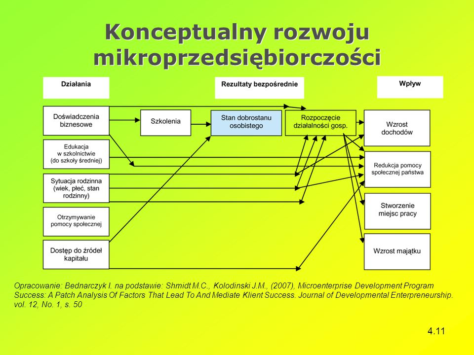 Konceptualny rozwoju mikroprzedsiębiorczości
