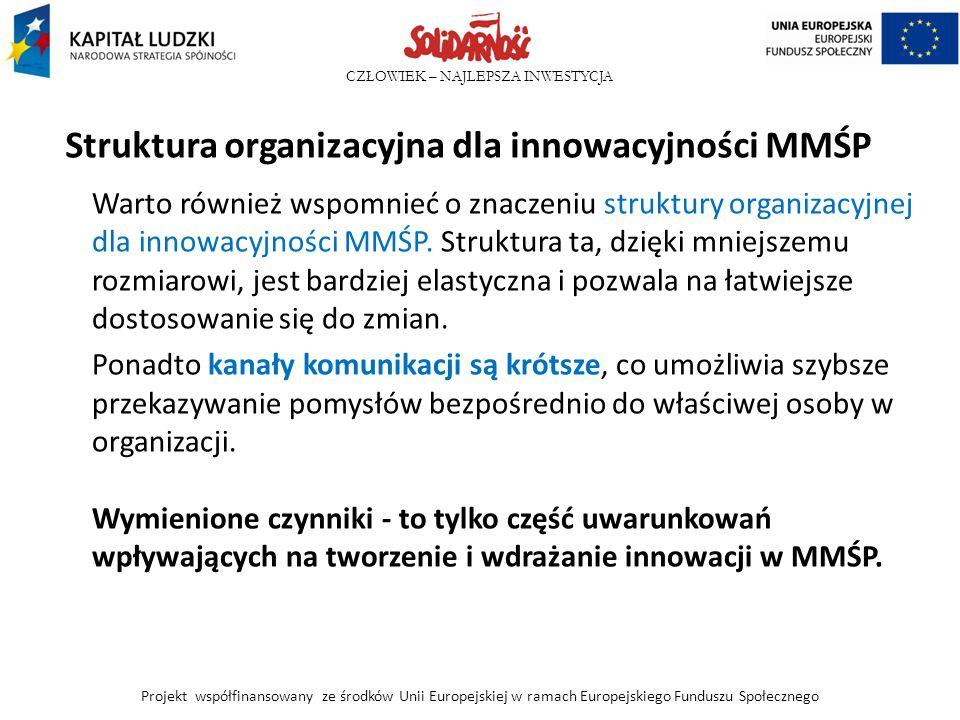 Struktura organizacyjna dla innowacyjności MMŚP