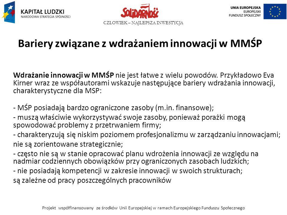 Bariery związane z wdrażaniem innowacji w MMŚP
