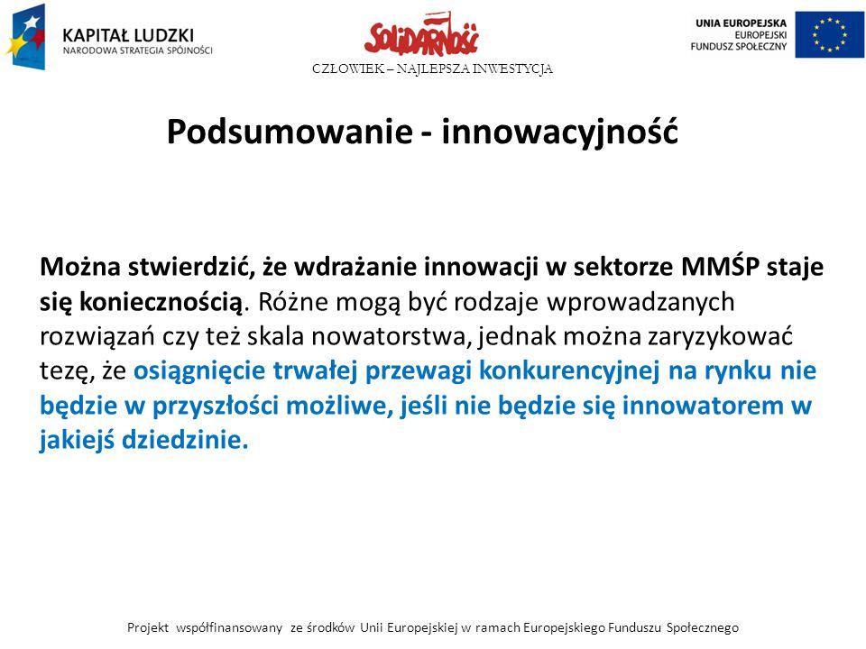 Podsumowanie - innowacyjność