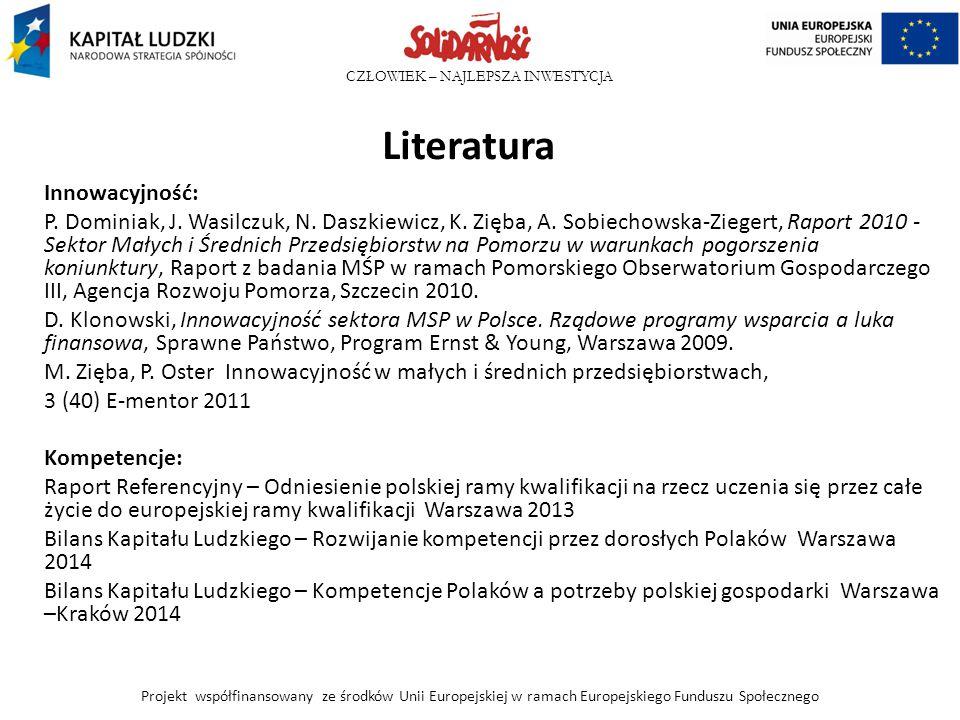 Literatura Innowacyjność: